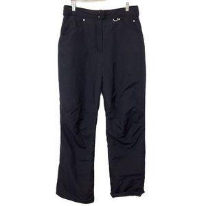 Slalom Black Ski Snow Pants Lined Size L